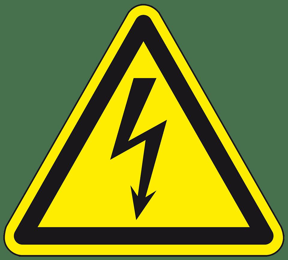 Warnschilder, Warnung vor gefährlicher elektrischer Spannung, ISO ...