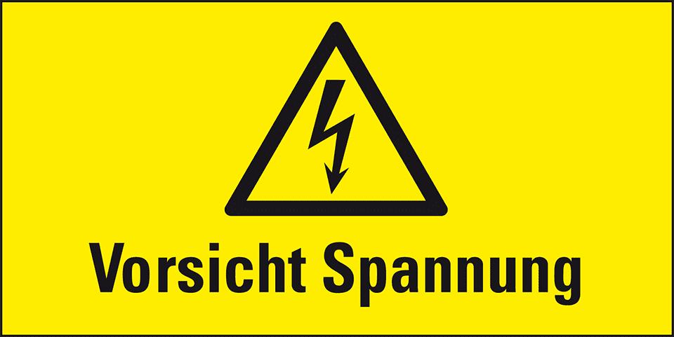 Warnschilder, Vorsicht Spannung, Kombischilder   kroschke.at
