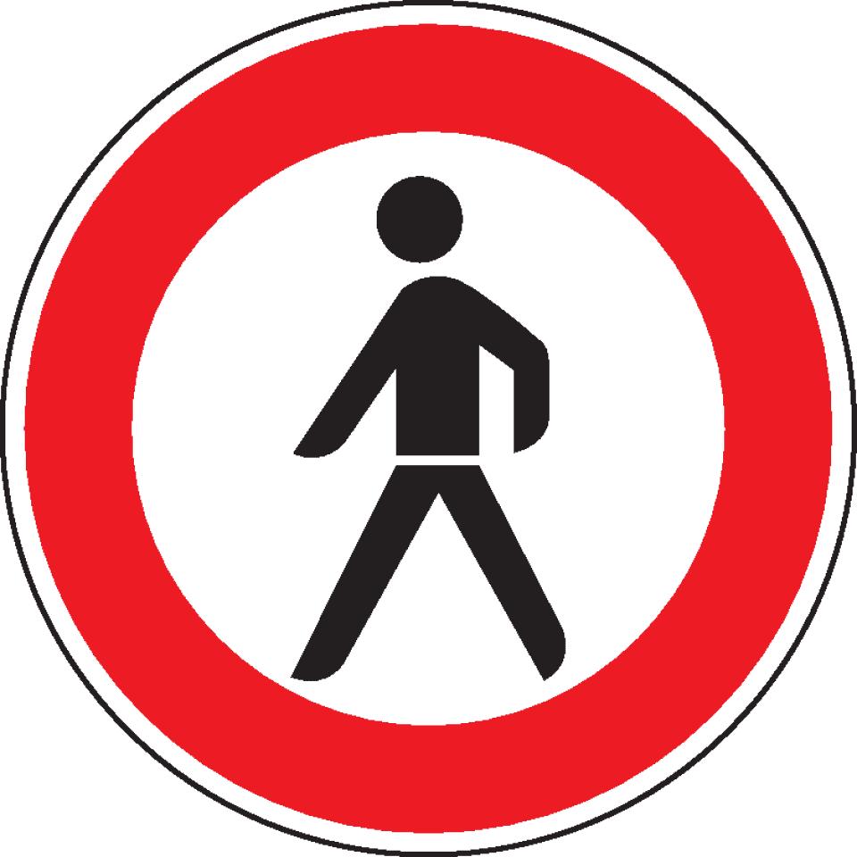 verkehrszeichen verbot für typ 0 reflektierend Ø 600mm