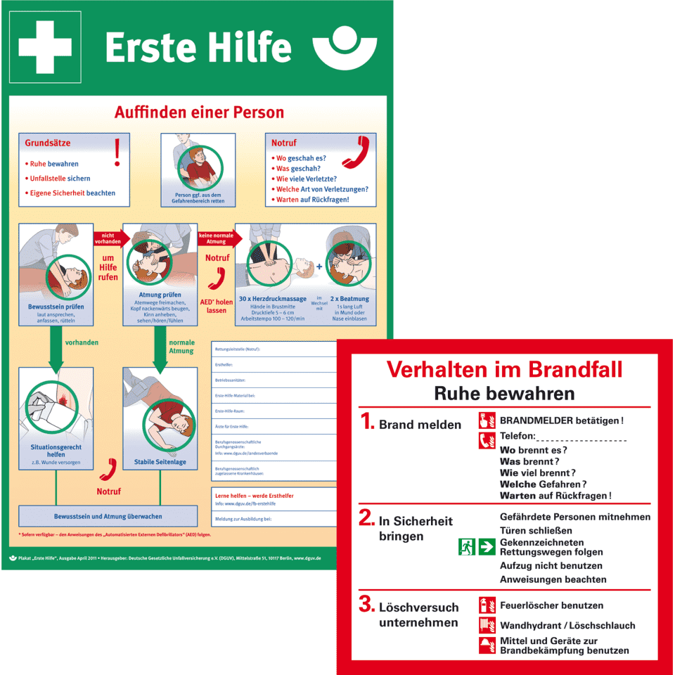 Notfallpläne & Erste Hilfe Aushänge kaufen   kroschke.at